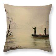 Bass Fishing In Florida Throw Pillow