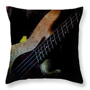 Bass Guitar Throw Pillow