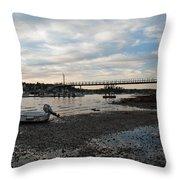 Bass Harbor At Low Tide Throw Pillow