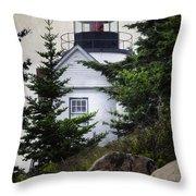 Bass Harbor Head Light Throw Pillow