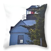 Bass Harbor Headlight Throw Pillow