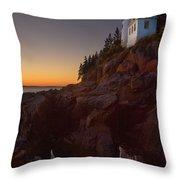 Bass Head Harbor Lighthouse Throw Pillow