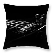 Bass On Black Throw Pillow