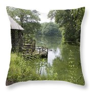 Bass Pond Biltmore Estate Throw Pillow
