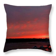 Bass River Sunrise Throw Pillow