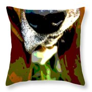 Basset Hound -all Nose And Ears2 Throw Pillow
