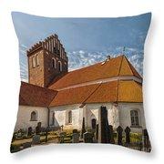 Bastad Church Throw Pillow