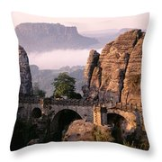 Bastei, Saxonian Switzerland National Throw Pillow
