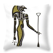 Bastet - Goddess Of Ancient Egypt Throw Pillow