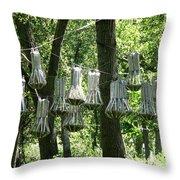 Bat Cloud At Tifft Nature Preserve Buffalo New York Throw Pillow