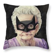 Bat Gran Throw Pillow