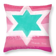 Bat Mitzvah Thank You Card Throw Pillow