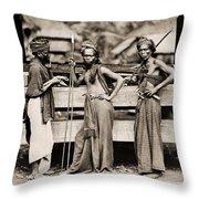 Batak Warriors In Indonesia 1870 Throw Pillow