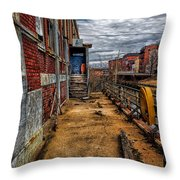 Bates Mill Office Canal Street Throw Pillow