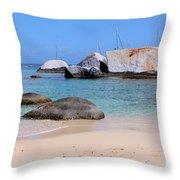 Bath Beach Throw Pillow
