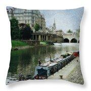 Bath Canal Throw Pillow