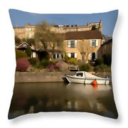 Bath Canalside Throw Pillow