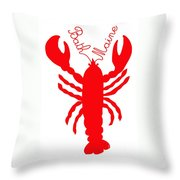 Bath Maine Lobster With Feelers Throw Pillow