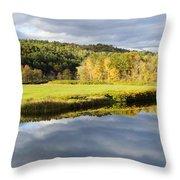 Bath Nh Autumn Panorama Throw Pillow