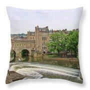 Bath On River Avon 8482 Throw Pillow