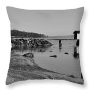 Bathing Jetty 2 Throw Pillow