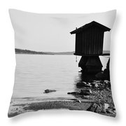 Bathing Jetty 4 Throw Pillow