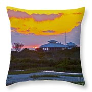 Bathouse Sunset Throw Pillow