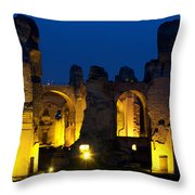 Baths Of Caracalla Throw Pillow