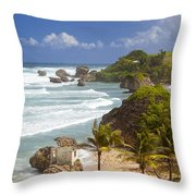 Bathsheba Beach Throw Pillow