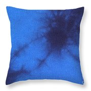 Batik In Blue Shades Throw Pillow