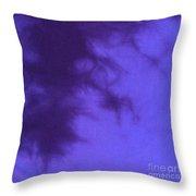 Batik In Purple Shades Throw Pillow
