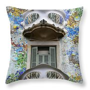 Batllo Balconies Throw Pillow