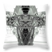 Batmachine Throw Pillow