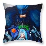 Batman Vs Joker Throw Pillow