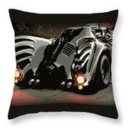 Batmobile 2 Throw Pillow