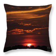 Baton Rouge Sizzling Sunday Sunset  Throw Pillow