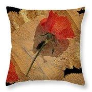 Bats And Roses Throw Pillow