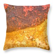 Battered To Rust Throw Pillow