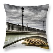 Battersea Bridge London Throw Pillow