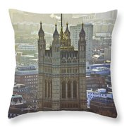 Battersea Power Station And Victoria Tower London Throw Pillow