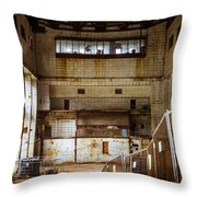 Battersea Power Station Interior Throw Pillow