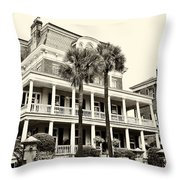 Battery Carriage House Inn Throw Pillow