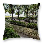 Battery Park Throw Pillow