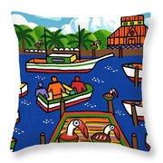 Battery Pier - Apalachicola Throw Pillow