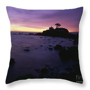 Battery Point Lighthouse At Sunset Throw Pillow