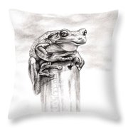 Batting Coach Throw Pillow by Kathleen Kelly Thompson