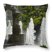 Battle Fountain Throw Pillow