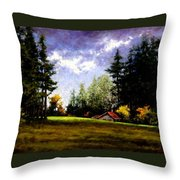 Battle Ground Park Throw Pillow