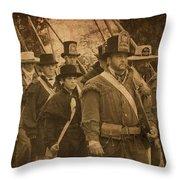 Battle Line Throw Pillow