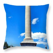 Battle Monument Throw Pillow